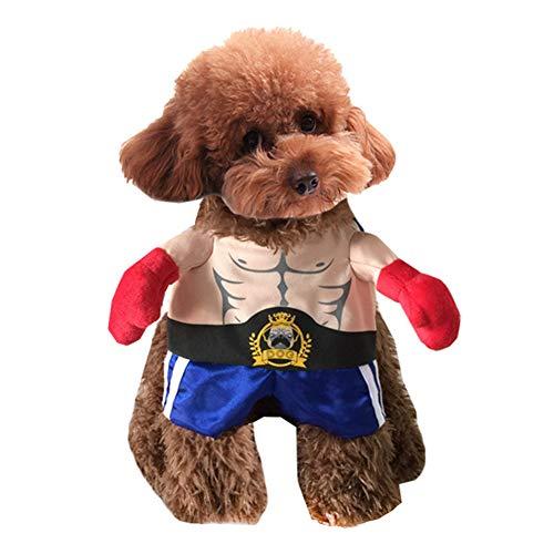 Kostüm Pet Boxer - Halloween Hundekleidung, lustige leichte atmungsaktive Halloween Kostüme, weicher bequemer Boxer für Katzen, Hunde, Haustierkostüme