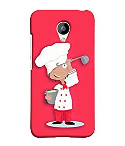 Meizu M3 Back Cover Cartoon Chef Icon Design From FUSON