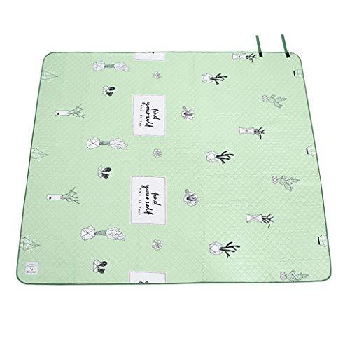 Couverture de Pique-Nique Coussin Double Face à l'humidité Vert Menthe fraîche Tapis de Pique-Nique Portable Tapis de pelouse Pliable (Taille : L)