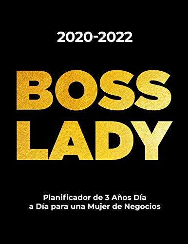 2020-2022 BOSS LADY Planificador de 3 Años Día a Día para una Mujer de Negocios: Agenda Organizadora para Mujeres Emprendedoras   Diario de un Mes por ... Académicos y Estudiantes (21,59 x 27,94 cm)