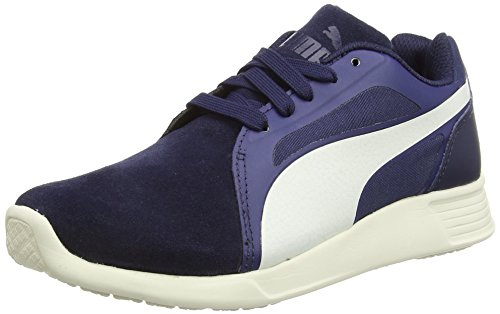 Puma ST Evo Suede, Unisex Adults Running Shoes, Peacoat/Whisper White, 3 UK (35.5 EU)