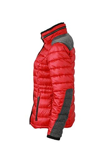 JAMES & NICHOLSON Damen Gesteppte Winterjacke mit modischen Details indian-red