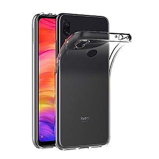 AICEK Hülle Compatible für Xiaomi Redmi Note 7 Transparent Silikon Schutzhülle für Redmi Note 7 Case Clear Durchsichtige TPU Bumper Xiaomi Redmi Note 7 Handyhülle (6,3 Zoll)