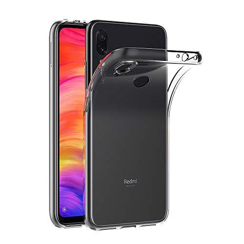 AICEK Cover Xiaomi Redmi Note 7, Cover Redmi Note 7 Silicone Case Molle di TPU Trasparente Sottile Custodia per Xiaomi Redmi Note 7 (6.3 Pollici)