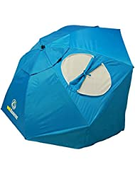 outdoorer Sombrello blau - Der Strandschirm mit zertifiziertem UV 80-Schutz, die Strandmuschel Alternative