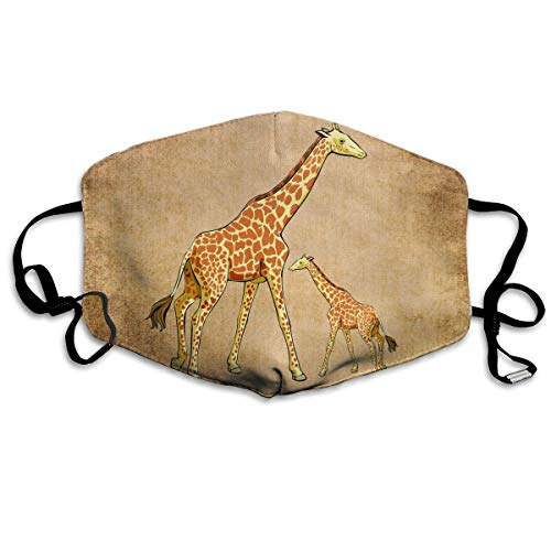 Extra Womens Kostüm Klein - liang4268 Mundmasken Cute Giraffe Mother and Baby Unisex Dust Allergy Flu Masks Cover Warm Respirator Germ Protective Breath Breath Healthy Safety Mouth Masks Unisex for Women Teens Men