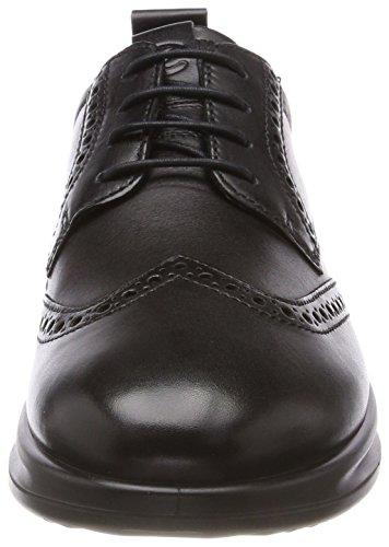 ECCO Vitrus Aquet, Scarpe Stringate Brouge Uomo Nero (Black)