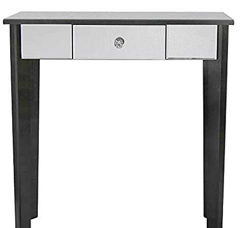 Stunning Mirror Console Table Modern Venetian Mirrored Small Furniture Black Hall Hallway Sideboard Cabinet Shabby Chic French Glass Side Vintage Room Bedroom Dressing 1 Drawer Plant Lamp Stand