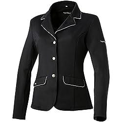 Equi-Theme/Equit'M 988481236 Veste de compétition Classique Souple Noir/Gris Passepoil Taille Unique
