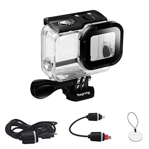 Perfectamente compatible con Gopro Hero 5 y Gopro Hero 6 Cámaras. Impermeable al agua hasta 50 metros. Ultra Durable el uso de la producción de acero inoxidable Vidrio templado en frente de la cámara, puede hacer que su cámara transmita mejor la luz....
