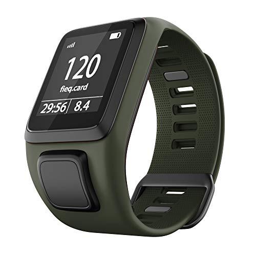 NotoCity Kompatibel mit Tomtom Armband Silikon Uhrenarmband Ersatz für Spark/Spark 3/Golfer 2/Adventurer/Runner 2/3 Smartwatch (Armee grün)