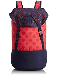 PUMA Rucksack Urban Pack - Mochila, color multicolor (peacoat/geranium/dot graphic), talla 28.5 x 40.5 x 18 cm
