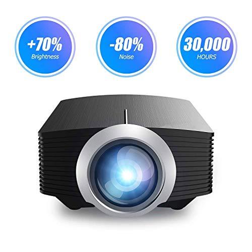 ZLHW Projektor, Videoprojektor Portable Mini Multimedia 130