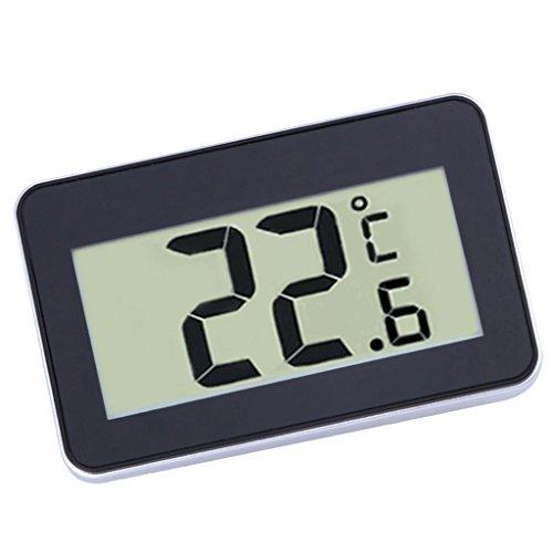 Fenteer Mini Digital Kühlschrank Thermometer Wasserdicht Gefrierschrank Thermometer mit Haken LCD...