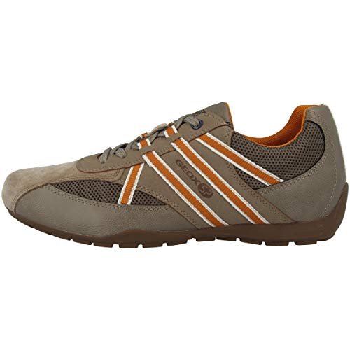 Geox ravex u923fb uomo sneaker,scarpe da ginnastika,scarpe da cosa sportivi,scarpe sportive,basso,signori scarpe,sneaker,scarpa stringata,traspirante,beige,44 eu