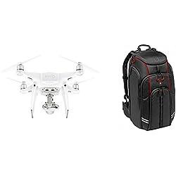 DJI Phantom 4 Pro Plus - Dron con cámara CMOS de 20 MP, color blanco (DJ0013) + Manfrotto MFMBBP-D1 - Mochila para drones DJI