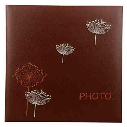 al Retro Album, Gedächtnis-Fotoalbum mit hoher Kapazität der Familie PU kann gespeichert Werden 600 6x4 (4D) Fotos Fotos Tourismus lieben (Color : Red Brown) ()