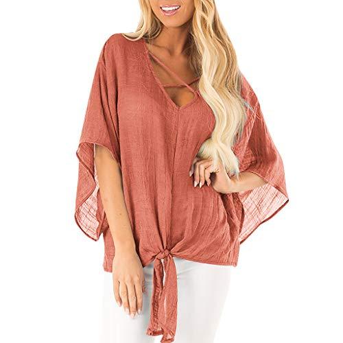 Camicie Estive Donna T Shirt Spalle Scoperte Bluse Camicetta Manica Corta Casual Elegante Tunica Top Zarupeng