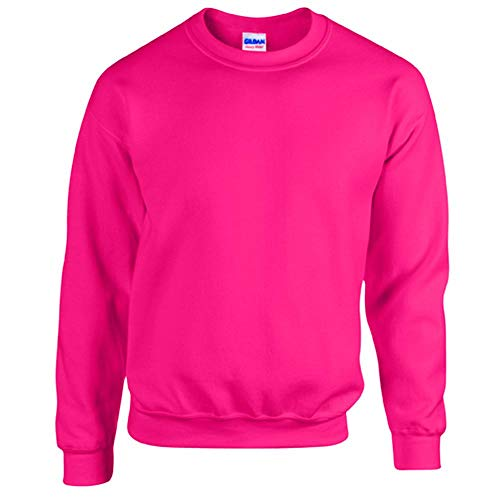 Gildan - Heavy Blend Sweatshirt / Safety Pink, L Pink Jumper