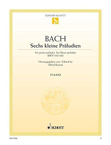 Kleine Preludien(6) Bwv933-938 P Piano