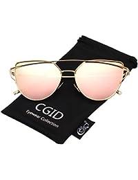CGID Mode Polarisierte Katzenaugen Sonnenbrille For Damen UV400 reflektierenden Spiegel