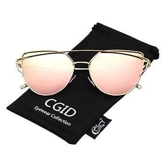 CGID MJ74 Lunettes de Soleil Polarisées Oeil de chat Cateye Modernes et Fashion Réfléchissantes UV400 Pour Femmes