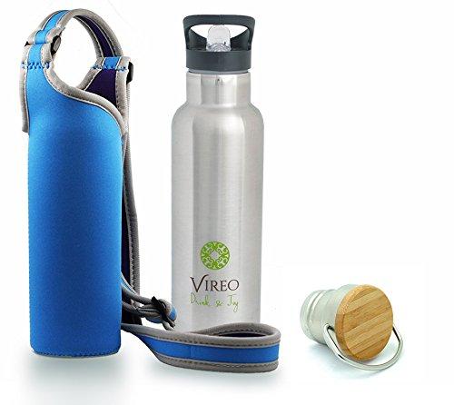 edelstahl-wasser-flasche-20-oz-umweltfreundlich-mit-bambus-cup-schnabeltasse-und-gratis-neopren-schu