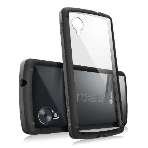 Nexus 5 Hülle, Ringke FUSION kristallklarer PC TPU Dämpfer (Fall geschützt/ Schock Absorbtions-Technologie) für das Google Nexus 5 – Schwarz