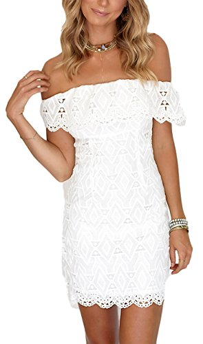Damen Kleid LOBTY Sommer Kurz Etuikleid Spitzekleid Sommerkleid Minikleid Abendkleid Cocktailkleid...