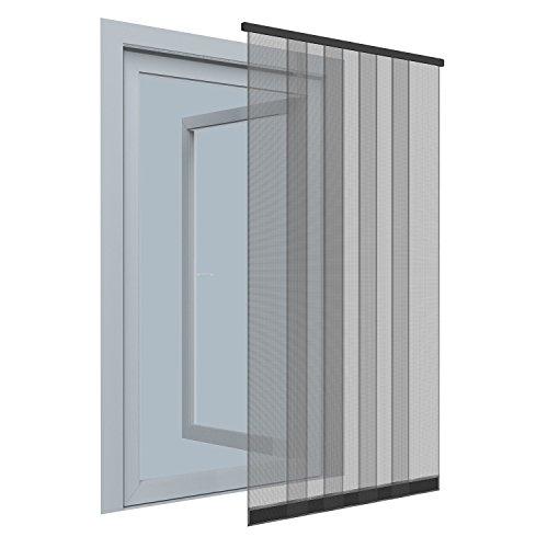 Protección contra insectos de cortina–125x 220cm–Cortina de láminas para puertas con mosquitera de fibra de vidrio–sin agujeros/pegar