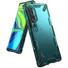 Ringke Fusion-X Compatible with Xiaomi Mi Note 10 / Mi Note 10 Pro Case, Ergonomic Transparent [Military Drop Tested] PC Back TPU Bumper Impact Resistant Protection Cover - Turquoise Green