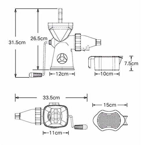 Ice Cream Machine & Slow Juicer Fruit & Vegetable Tool Plastic Multifuctional Fruit Press Hand Juicer