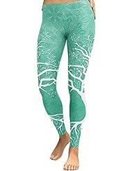 YUJIAKU Pantalones de Yoga/Transpirables/Secado rápido/Moda Leeging Mujer Pantalones de Yoga Poliéster Yoga Fitness Correr Gimnasio Estiramiento Deportes Pantalones de Cintura Alta ers