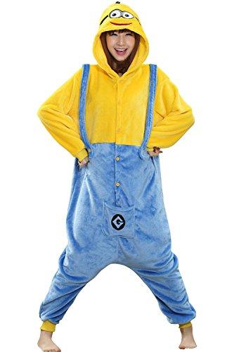 Pijama de adulto de una pieza con sudadera de disfraz de cartoon holgado y cómodo con capucha y bolsillos