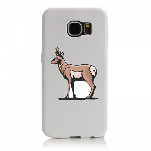 Smartphone Case Cervo steht e schaut foresta montagne Cacciatore preda per Apple Iphone 4/4S, 5/5S, 5C, 6/6S, 7& Samsung Galaxy S4, S5, S6, S6Edge, S7, S7Edge Huawei HTC-Divertim