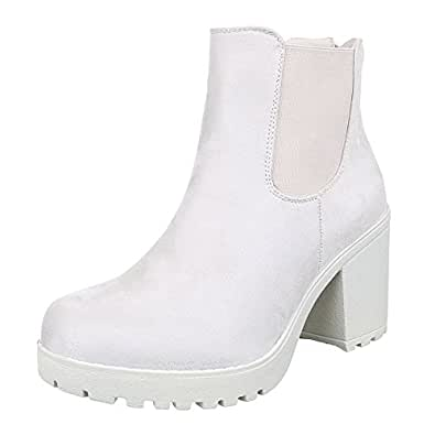 Damen Schuhe, S2161, STIEFELETTEN, STRETCH BOOTS, Synthetik in hochwertiger Wildlederoptik , Creme, Gr 37