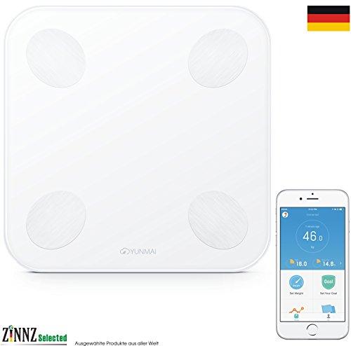 yunmai Mini 2yunmai Balance Smart Báscula Báscula de análisis corporal de grasa corporal (Smart Scale 3kg de 180kg # zinnz Selected #