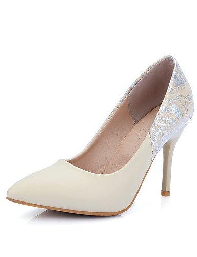 WSS 2016 Chaussures Femme-Bureau & Travail / Décontracté-Noir / Rouge / Blanc / Beige-Talon Aiguille-Talons / Bout Pointu-Talons-Polyuréthane beige-us6 / eu36 / uk4 / cn36