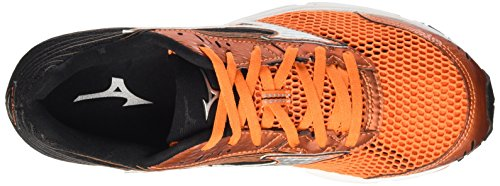 Mizuno Wave Sayonara 3, Chaussures de Running Compétition homme Multicolore (Vibrant Orange / Silver / Black)