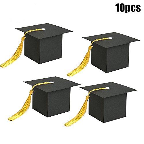 symboat 10Stück Papier Cap Fitness-Diplome Süßigkeiten Boxen Geschenkboxen mit Teil-Schulabschluss/Universitätsabschluss Eichel
