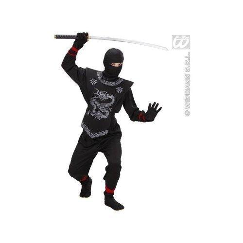 Kinderkostüm Ninja mit 2 passenden Sais Gr. M = 134 - 140