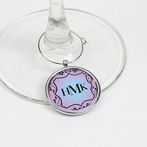 kt Monogramm Wein Glas Charme Personalisierte ()