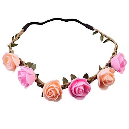 Gazechimp Haarband Blumen Stirnband Haarkranz Blumenkrone Blumenmädchen Kinder Mädchen Haarschmuck