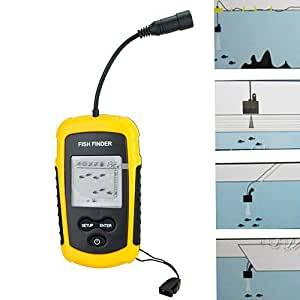 Center one portable sonar sensor fish finder with alarm for Amazon fish finder
