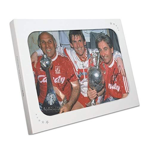 Exclusive Memorabilia Liverpool-Foto von Roy Evans und Ronnie Moran signiert: der Schuhraum. Im Geschenkkarton - Evans Foto
