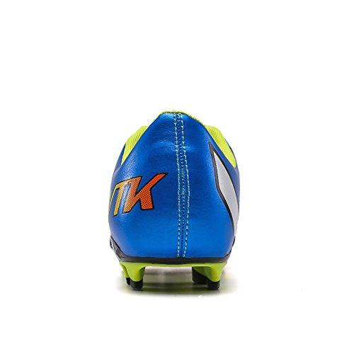 ASHION Adolescenti a di calcio scarpe di cuoio scarpe leggere Uomini calcio impermeabili blu