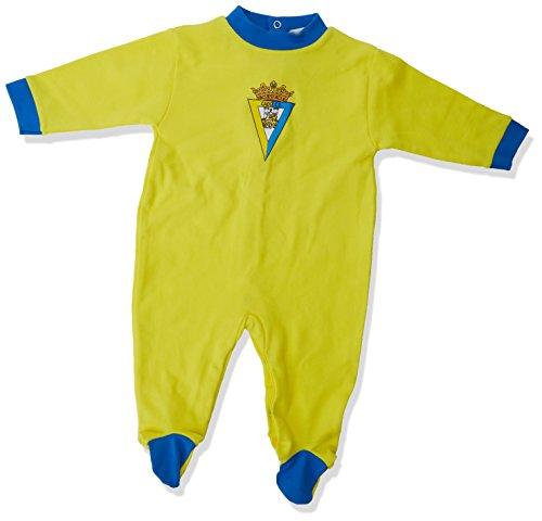 Cádiz CF Pelcad Pelele, Bebé-Niños, Amarillo/Azul, 6 meses