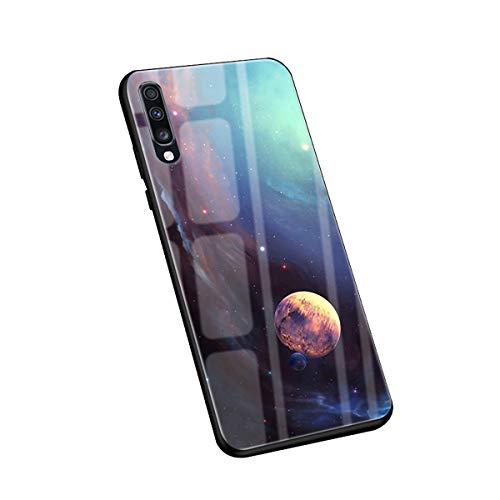 Handyhülle kompatibel für Samsung Galaxy A50 A70 Case Full Body Schutz 9H Tempered Glas Zurück+TPU Bumper Kreatives Muster Stoßfest Anti-Fall Multicolor Galaxy A50 Cover (Galaxy A50, 4) -