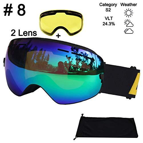 AEQ Gafas esquí, Lente Doble for Hombre Gafas esquí
