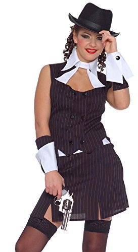 Damen Sexy 1920s Gangster Bugsy Malone Great Gatsby Kostüm Kleid Outfit UK - Bugsy Malone Kostüm